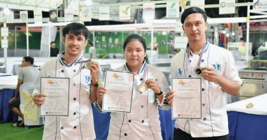 """นักศึกษา ชั้นปีที่ 2 สาขาวิชาธุรกิจอาหาร คณะวิทยาการจัดการ มหาวิทยาลัยราชภัฏสุราษฎร์ธานี คว้ารางวัลเหรียญเงิน จากการแข่งขันทำอาหาร ประเภทอาหารไทยโมเดิร์น ในงานพระจันทร์หลากสีที่พะงัน กิจกรรม """"Pha Ngan Culinary Challenge 2018"""""""